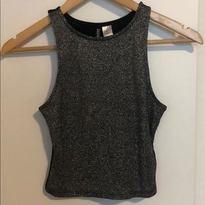 H&M Sparkly Cropped Tank